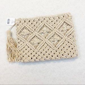 Handbags - Sparkle Crochet Clutch